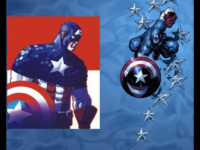 Captain America Black And White