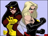 Ms Marvel and Spider Woman